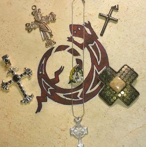 VTG./Estate~Old Cross Pendants/Necklace